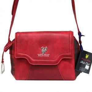 cfb69ef105 Γυναικεία τσάντα χιαστί ώμου κόκκινη POLO CLUB HARVEY MILLER PEP995