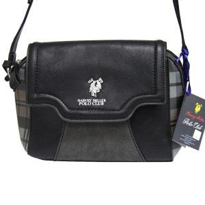 Γυναικεία τσάντα χιαστί ώμου μαύρη POLO CLUB HARVEY MILLER PEP995 70df9a7eacd