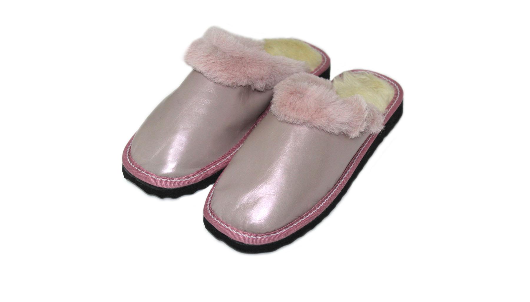Δερμάτινη Παντόφλα Καστοριάς παιδική για κορίτσια ροζ - panosshoes.gr 20f3f60fbdf